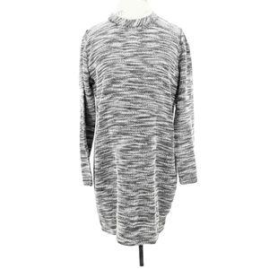 Lou & Grey Grey Marled Long Sleeve Sweater Dress S